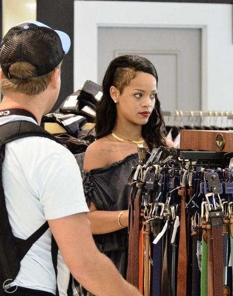 Rihanna doing some shopping in Barbados