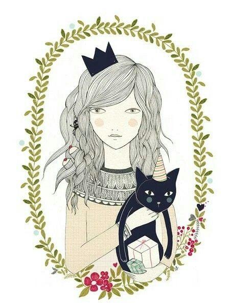 Print Gato by Lady Desidia