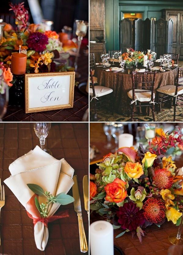 Fall Wedding Decor - Colorado Wedding -