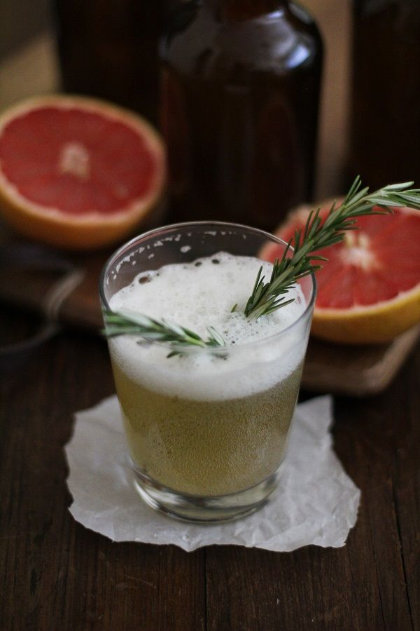 Grapefruit Rosemary Kombucha and Delicious Probiotic Drinks, a cookbook on brewing probiotic beverages at home)