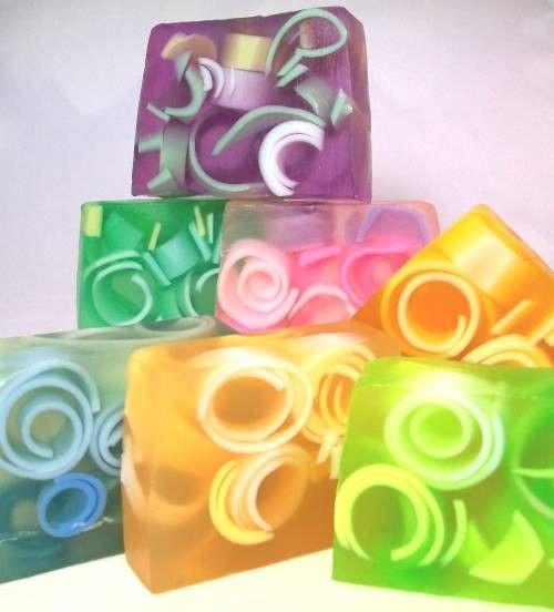 pretty colored soaps