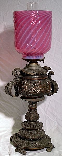 Exceptional Victorian Oil Lamp: