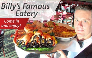 World Famous Billy's Stone Crab Restaurant and Market in Hollywood FL, offers  fresh stone crabs and fresh Florida seafood