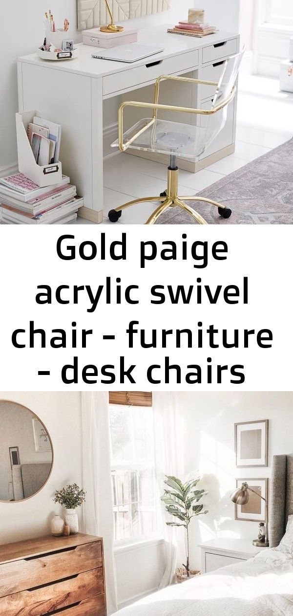 Gold paige acrylic swivel chair furniture desk chairs