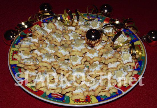 Marcipánové vánoční hvězdičky