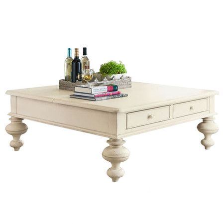 The perfect finishing touch for your living room or den, this turned wood coffee table pairs 2 essential drawers with a chic linen finish and convenient lift...