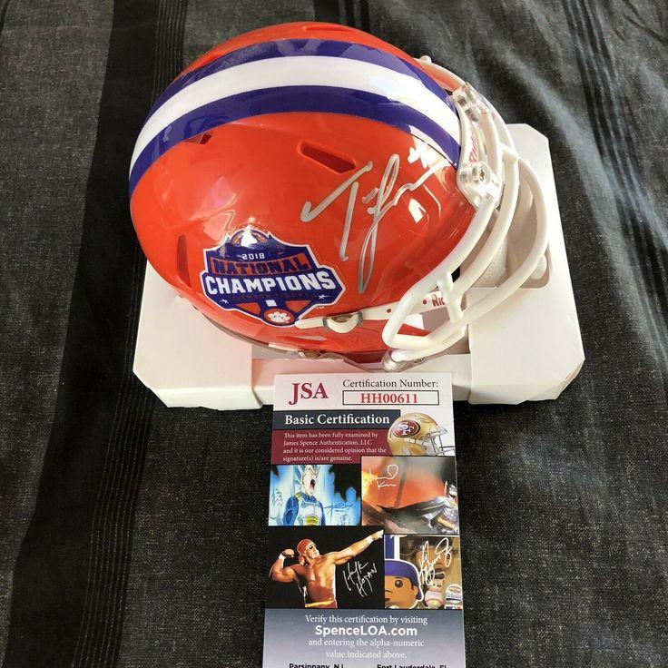 Trevor lawrence signed mini helmet 2018 clemson national
