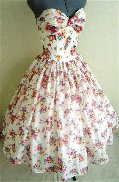 dress floral white beautiful girly cute long dress white dress poofy dress