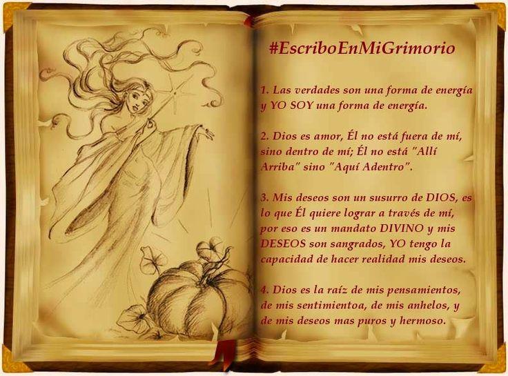 #EscriboEnMiGrimorio Wicca - Parte I:  Leyes Parte I 1) Cuando estamos capacitados para recibir una Verdad más elevada, una Energía superior, el solo hecho de leerla o escucharla con atención activa zonas de la mente que estaban bloqueadas. Nosotros somos fuente de ENERGÍA, lo que pensamos es energía, lo que decimos, nuestras palabras son energía saliendo de nuestro espíritu para manifestarse, nuestras...  #Wicca #Magia #Paganismo #Bruja #Brujo #Mago #Coven #Aquelarre