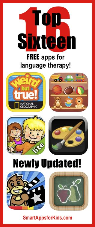 Newly updated! Top FREE apps for language therapy! http://www.smartappsforkids.com/2014/05/newly-updated-top-free-apps-for-language-therapy.html. Repinned by SOS Inc. Resources pinterest.com/sostherapy/.