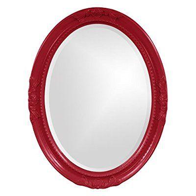 Save 89%- Howard Elliott Collection 40101R Queen Ann Mirror, Red