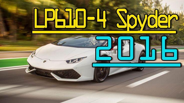 ►2016 Lamborghini Huracan LP610-4 Spyder 602-HP 5.2L V-10 Automatic Walk...