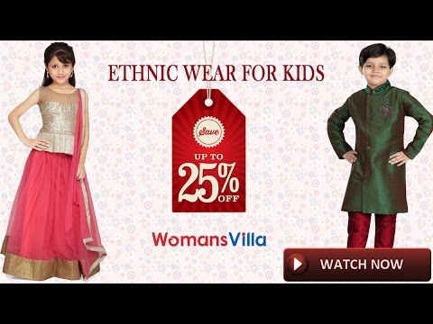 Now Shop Ethnic kids wear online only at womansvilla