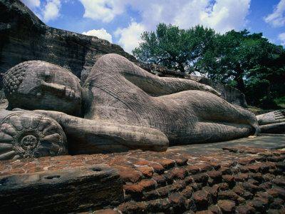Laying Buddha at Polonnaruwa, Sri Lanka