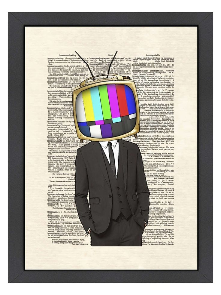 Television Head by Matt Dinniman (Framed)