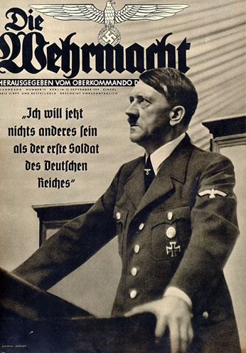 Hitler on the cover of a popular Armed Forces publication