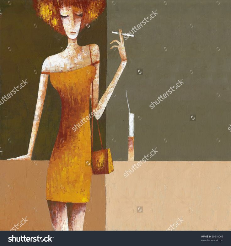 Sexy Woman With Cocktail by Eugene Ivanov. #eugeneivanov #elegant #woman #portrait #lady #painting #art #nude #cubism #girl #female #femina #@eugene_1_ivanov