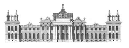 Elevation, South Front Blenheim Palace