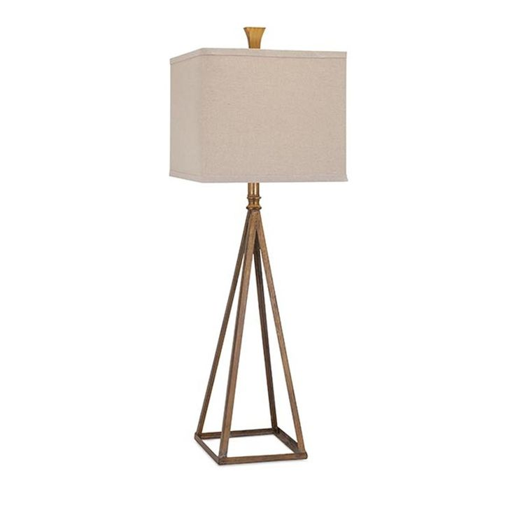 Gold prism tower table lamp 139