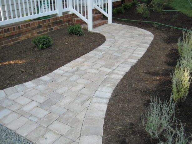 Exterior How To Lay Pavers For A Walkway Pavers Over Concrete Walkway How To Make Walkway With Pavers Walkway Pavers for Versatile Garden View