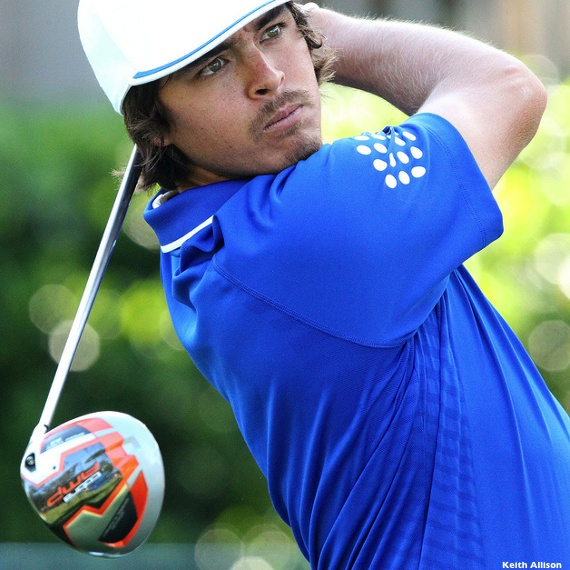 Wells Fargo Championship winner Rickie Fowler with Cobra AMP driver  He could do without the facial hair but he is still cute :)
