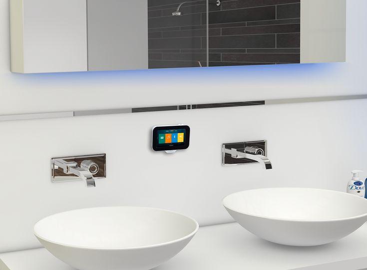 De Aquasound N-Joy Music Center is dé inbouwradio voor de badkamer. De N-Joy controller vindt zijn plek op de magnetische houder/lader. Luister naar Internet radio of naar uw persoonlijke muzie...