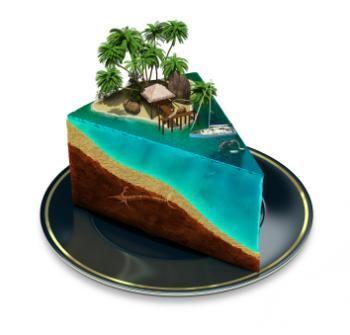Beach Theme Birthday Cakes