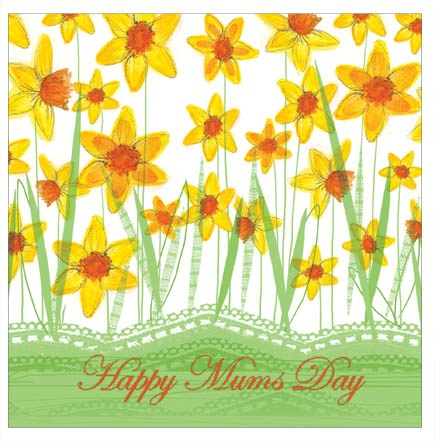 Fields of Gold - personalised individual Mother's Day card