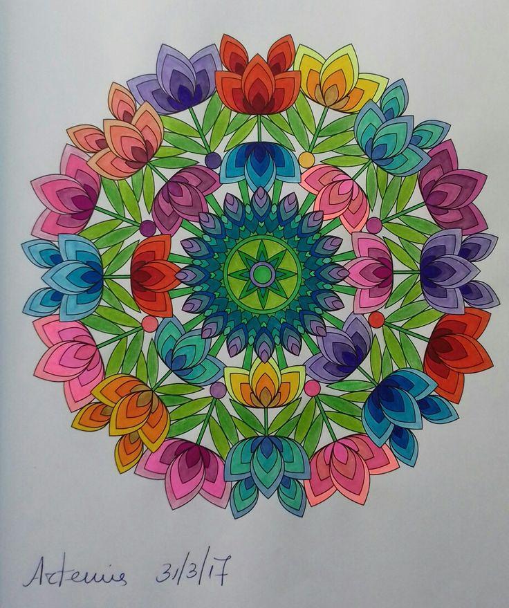Week 51, mandala design vol. 2 by Jenean Morrison coloured by Artemis Anapnioti.