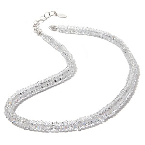 "Deb Guyot Designs 5mm Herkimer Quartz Sterling Silver 18-1/2"" Tennis Necklace at HSN.com."