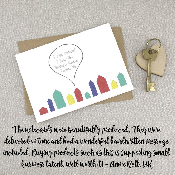 A wonderful review of my Change of Address Note Cards from another happy customer. Delighted #feedbackfriday