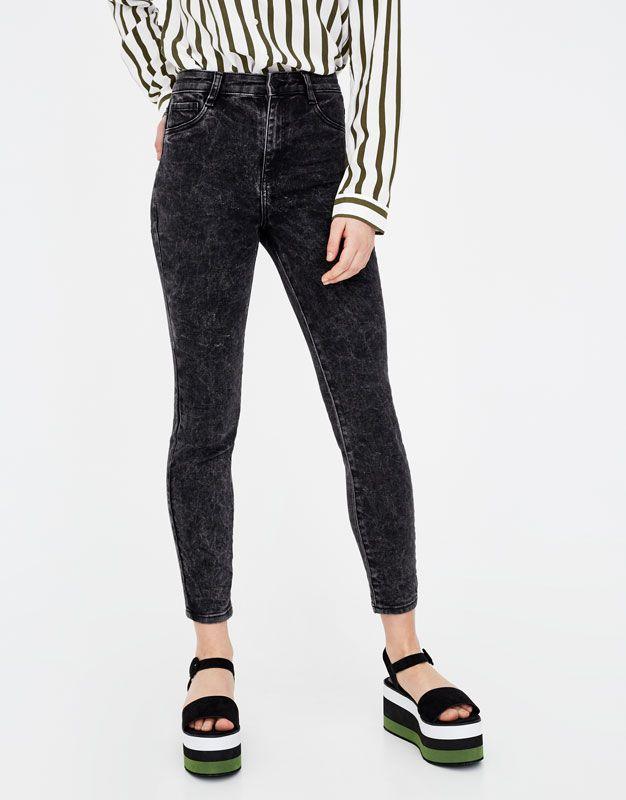 High waist skinny jeans - Jeans - Denim - HIDDEN - PULL&BEAR United Kingdom