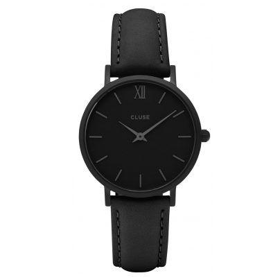 Tolle Damenuhr von Cluse,  komplett in Schwarz. https://www.uhrcenter.de/uhren/cluse/damenuhren/cluse-minuit-full-black-damen-armbanduhr-cl30008/