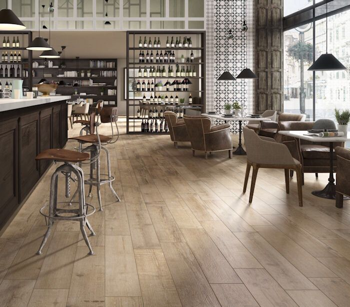 Nordica light porcelain plank tiles, from Mandarin Stone. The beauty of real natural wood but with the practicality of porcelain! Brilliant.