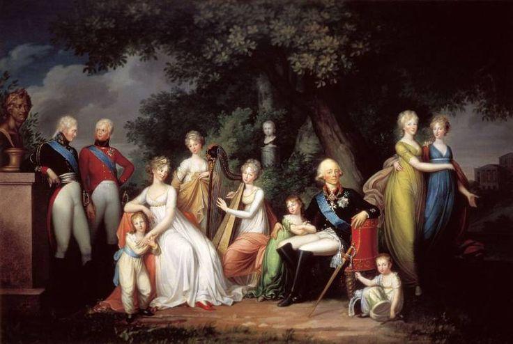 фон Кюгельген Герхард (в России 1795-1804). Павел I, Мария Федоровна и их дети.
