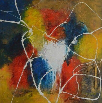 No.1 Kleurige moderne abstracte schilderijen, acrylverf op doek zonder lijst. Prijzen varieren tussen de 50 en  195 euro. Voor meer informatie neem contact op met schilderijen.Fenny@gmail.com