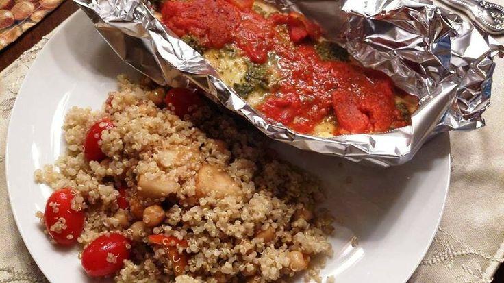 Nadeau Nutrition: Tilapia au pesto et tomates et quinoa à la poire