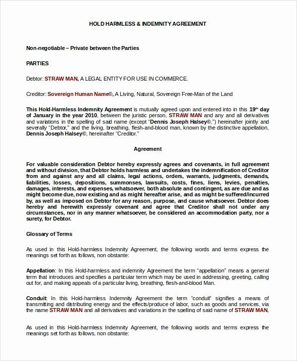 Simple Hold Harmless Agreement Unique 10 Sample Hold Harmless Agreements Pdf Word Good Essay Classroom Newsletter Template Newsletter Template Free