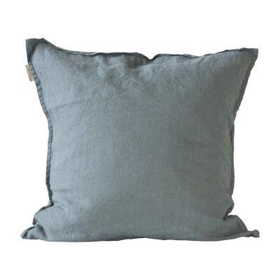 Washed Linen kuddfodral 65x65, dusty blue – Tell Me More – Köp online på Rum21.se