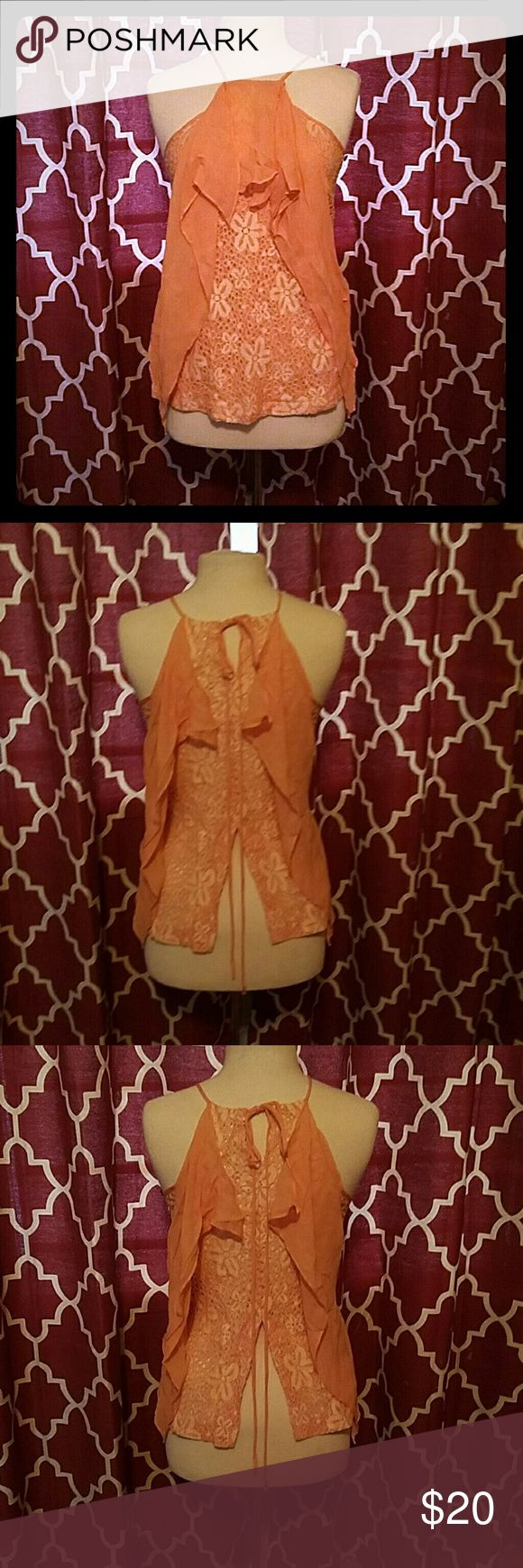 Mint Julep Boutique Esley Top in Peach NWT ADORABLE BOUTIQUE TOP SMOKE FREE HOME Esley Tops
