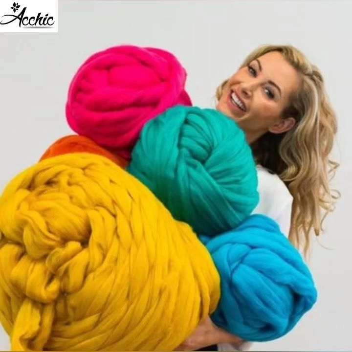 ON SALE & HOT SALE! Buy 2 Get Extra 5% OFF (Code: AC5) To order Merino Wool Chunky Hand Knitted Blanket please visit Acchic>>
