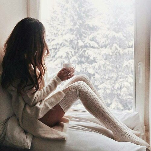 over the knee socks knitted warm