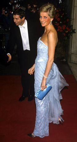 Stunning in blue is Princess Diana