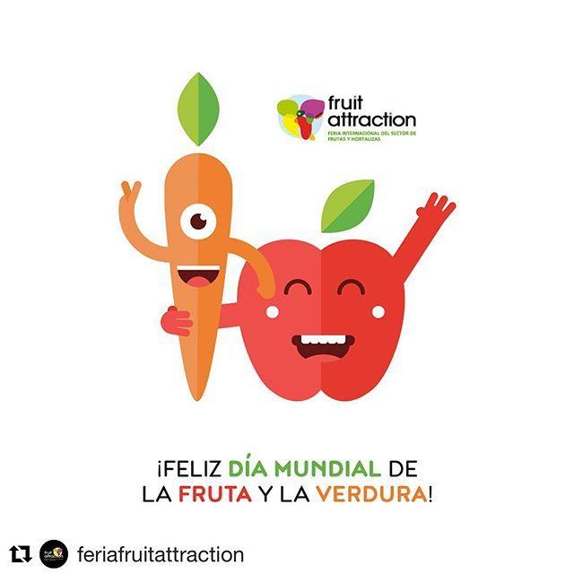 Reposting @donpawanco: ¡Último día en la feria #fruitattraction celebrando el día mundial de la fruta y de la verdura 😀! 🍏🍎🍐🍊🍋🍌🍉🍇🍓🍈🥑🥝🍍🍑🍒🍅🍆🥒🥕🌽🥔🌶 #fruitattraction2017 #frutasyverduras #fruitsandvegetables #fruits #vegetables #fun #colours #world #feriafruitattraction2017 #feria #instagood #instadaily #friday #ifemamadrid #madrid