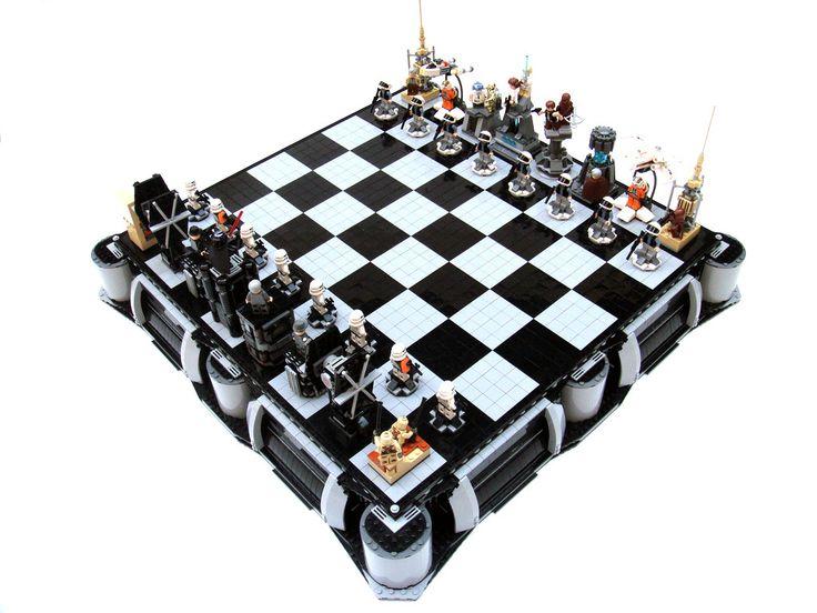 juego de ajedrez Star Wars con legos
