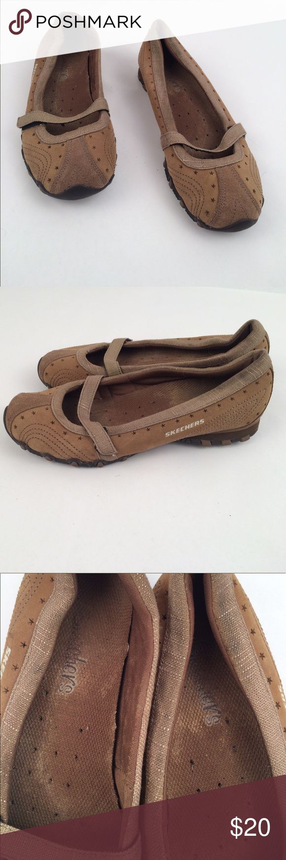 Skechers Mary Jane Flats 6.5 In good condition are these Mary Janes by Skechers with Velcro strap. Size 6.5. Soles are great, shoes in good condition, inside is a little worn. Skechers Shoes Flats & Loafers