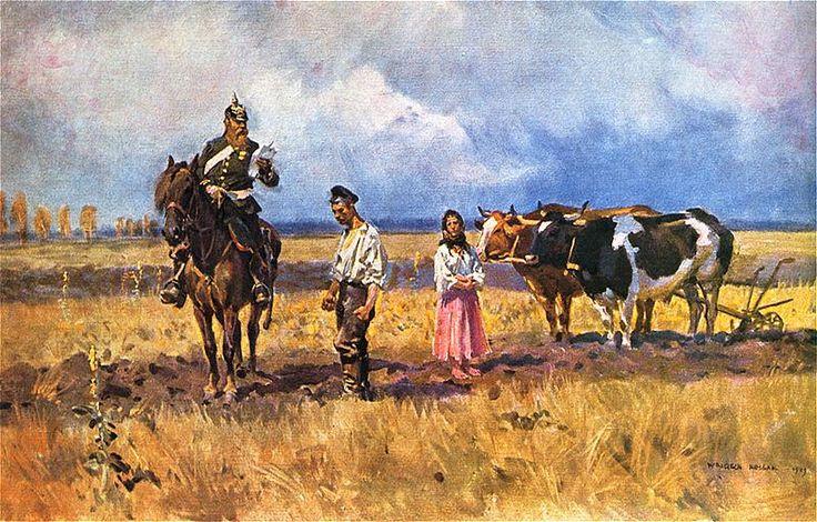 """Wojciech Kossak - Rugi pruskie (z cyklu """"Duch pruski""""), 1909"""