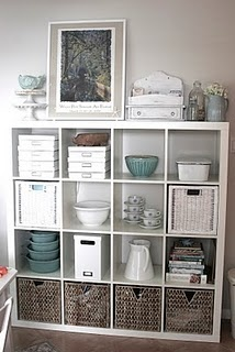ikea expedit bookcase, so many cool things you can do with it, wish i had room.