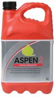 Q. What is the difference between Aspen 2 and Aspen 4?  A. Aspen 2 contains 2% fully synthetic oil and is suitable for machines such as chainsaws, strimmers, hedgetrimmers and other air cooled 2-stroke engines.  Aspen 4 is alkylate petrol without any added oil and is suitable for machines such as lawnmowers, stump grinders and other 4-stroke powered machines. It is also a great alternative fuel for camping stoves and lanterns.