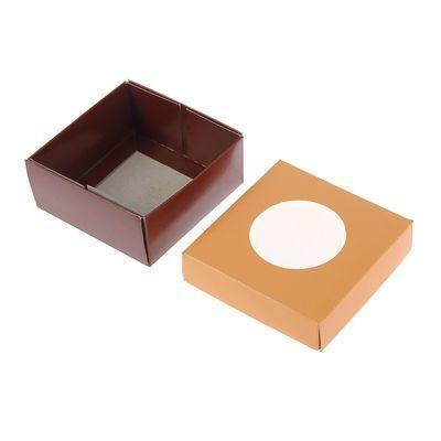 Коробка для сладостей 10 х 10 х 4,5 см, коралловый/шоколад (1426797) - Купить по цене от 23.90 руб.   Интернет магазин SIMA-LAND.RU